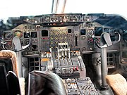 Flightdeck of the 747-200.