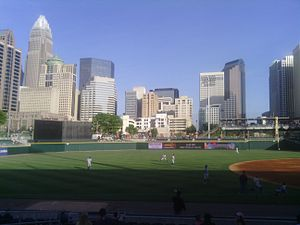 Charlotte center city - The Center City skyline viewed from BB&T Ballpark