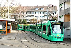 Basler Verkehrs-Betriebe - A Siemens Combino tram of the BVB