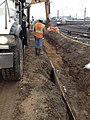 Backfilling a gas main for the Mid-day storage yard east of the 39th Street Bridge in Queens. (CQ033, 09-26-2018) (44061703195).jpg