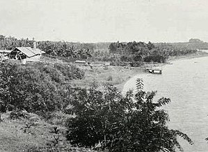 Kerala backwaters - A backwater in the Kollam region, c.a. 1913