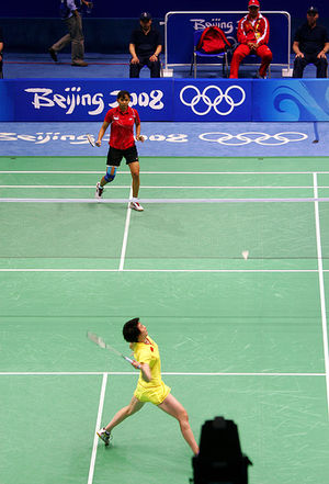 Badminton - Lu Lan vs. Yulianti at Beijing Oly...
