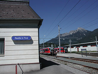 Ausserfern Railway - Reutte station in the Tyrol