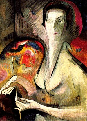 Alice Bailly - Self-Portrait (1917)
