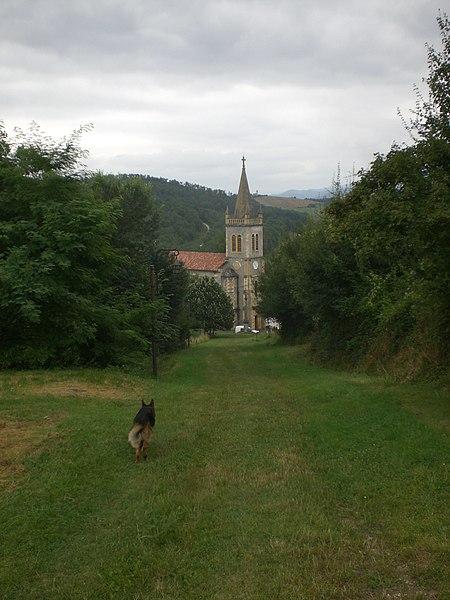 Baixant del Château de Montespan (agost 2008)