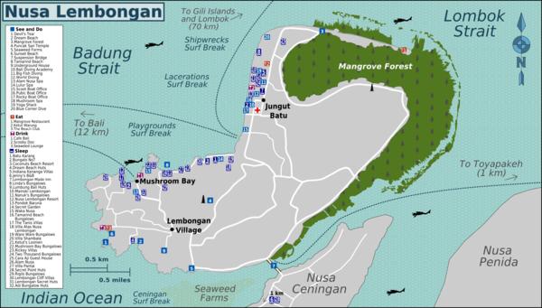 Carte Bali Surf.Nusa Lembongan Travel Guide At Wikivoyage