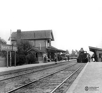 Banfield, Buenos Aires - Image: Banfield station 1900s