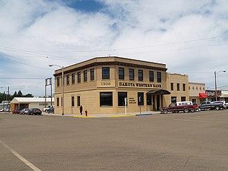 Bowman County, North Dakota - Image: Bank in Bowman