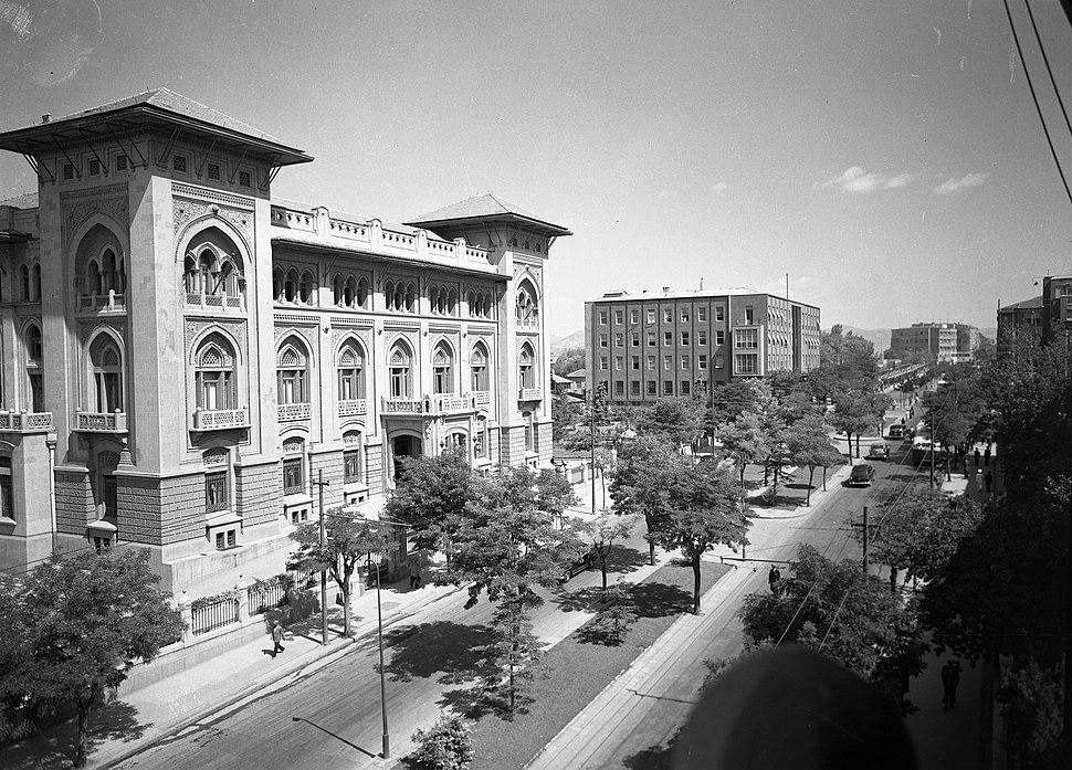 Banks Street (Atatürk Boulevard) the Building of Ziraat Bankası (Agricultural Bank), 1930s (16851406391)