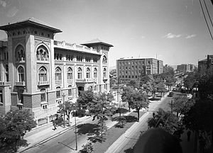 Banks Street (Atatürk Boulevard) the Building of Ziraat Bankası (Agricultural Bank), 1930s (16851406391)