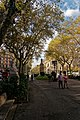 "Barcelona - Gran Via de les Corts Catalanes - View SW on Statue ""Barcelona a Güell y Ferrer"" I.jpg"