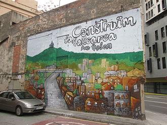Gràcia - Graffiti near Lesseps Metro in Gràcia