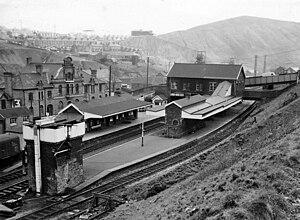 Bargoed railway station - Bargoed Station in 1965