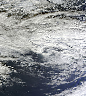 2015–16 UK and Ireland windstorm season - MODIS image of Barney on 17 November 2015