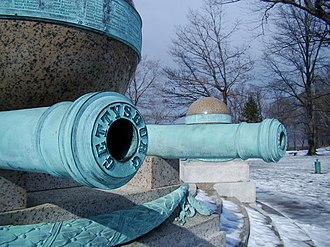 Battle Monument (West Point) - Image: Battle Monument Gettysburg Cannon