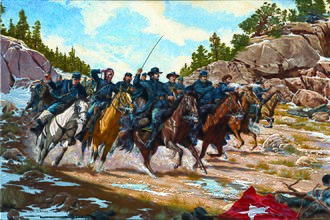 Battle of Glorieta Pass - Action at Apache Canyon.