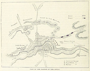 Second Battle of Porto - A map of the battle