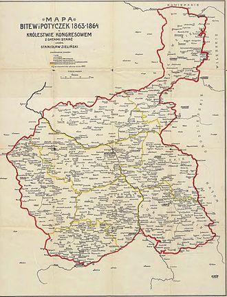 January Uprising - Battles of January Uprising in Congress Poland 1863-1864