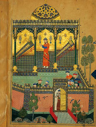 Baysonqor - Scene from the Baysonghor Shahnameh, a Shahnameh commissioned by Baysonqor, 1430