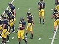 Bears break huddle at EWU at Cal 2009-09-12.JPG