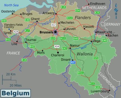 cities and regions in belgium