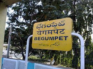 Begumpet railway station - Begumpet railway station - stationboard