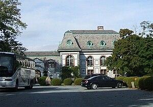 Belcourt of Newport - Belcourt's east façade, originally rear of the castle, faces Bellevue Avenue