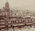 Bell tower of Santo Domingo and former facade of the City Hall, Lima. 1874.jpg