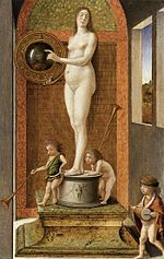 Bellini, Giovanni -- Four Allegories ... Prudence - c. 1490.jpg