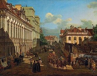 Miodowa Street (Warsaw) - Image: Bellotto Miodowa Street in Warsaw