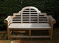 Bench in the Old Palace Garden Hatfield House Hertfordshire England.jpg