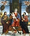Benedetto Carpaccio -Vergine tra santi Bartolomeo e Tommaso - Museo Capodistria.jpg