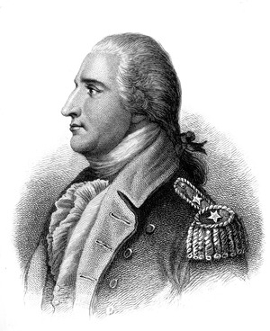 Benedict Arnold. Copy of engraving by H. B. Hall after John Trumbull, published 1879., 1931 - 1932 - NARA - 532921.tif