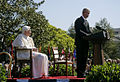 Benedictus XVI and Bush Speech 2008.jpg
