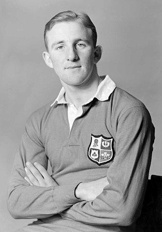 Lewis Jones (rugby) - Jones in New Zealand in 1950
