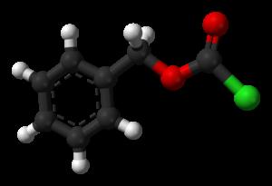 Benzyl chloroformate - Image: Benzyl chloroformate 3D balls