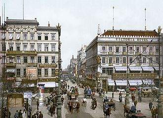 Berlin - Berlin became the capital of the German Empire in 1871 and expanded rapidly in the following years. (Unter den Linden in 1900)