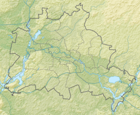 Map showing the location of Pfaueninsel