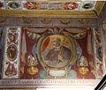 Bernardino Poccetti e aiuti, affreschi della sagrestia di san bartolomeo di ripoli, 1585, fregio 07 san bernardo degli uberti.JPG