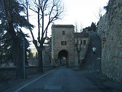 Walls and gate in Bertinoro.