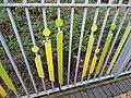 Bescot Stadium Station - sculpture railings along path to the car park (26408445939).jpg
