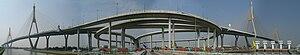 Bhumibol Bridge - Image: Bhumibol Bridge panorama