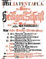 Biblia pentapla (1711), title page.jpg