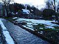 Bibury after snowfall at dusk - geograph.org.uk - 1158867.jpg