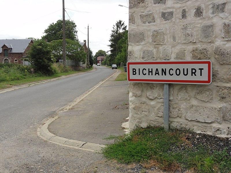 Bichancourt (Aisne) city limit sign