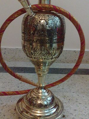 Mu'assel - The intricate work on a Malabar Hookah