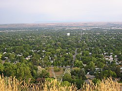 View of Billings from the Rims