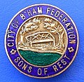 Birmingham City Federation of the Sons of Rest - membership badge (1930's - 1950's).jpg