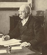Portrait of Otto von Bismarck, sitting at desk