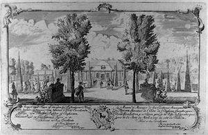Blågårds Plads - Barthélemy de La Rocque: View of Blaagaard, c. 1745